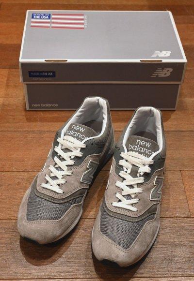 画像1: USED NEW BALANCE ニューバランスM997 アメリカ製 (GRAY/10/28cm) 箱つき 中古
