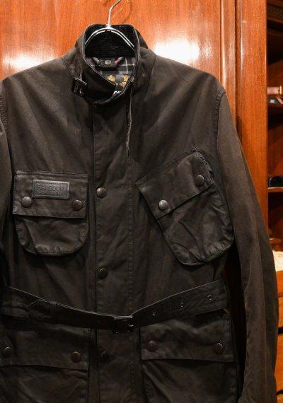 画像2: USED Barbour INTERNATIONAL JACKET SL インターナショナル オイルド ジャケット (BLACK/36) 中古 正規輸入品