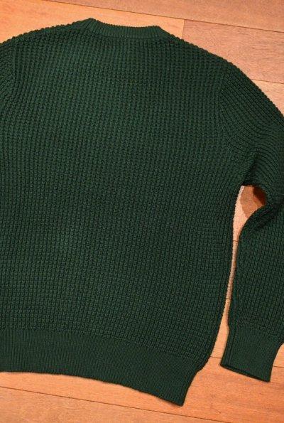 画像3: J.CREW (ジェイクルー) コットン ワッフル編み クルーネックセーター(Green/L) ニット 新品 並行輸入