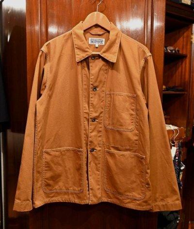 画像1: USED Engineered Garments WORKADAY(エンジニアードガーメンツ ワーカデイ) ダック カバーオールジャケット(Brown/L) 中古