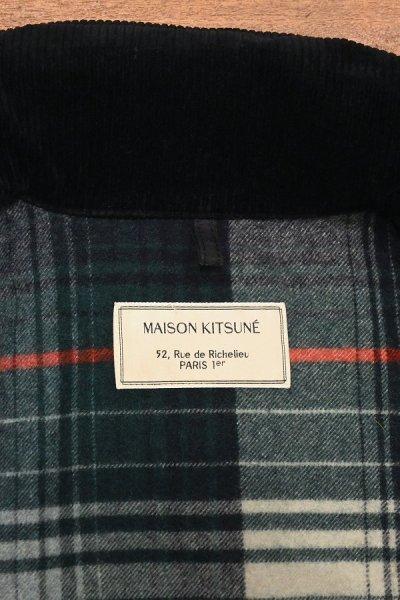 画像3: (EXCELLENT USED) MAISON KITSUNE ブラックウォッチ オイルドジャケット フランス製(S) 中古 メゾンキツネ