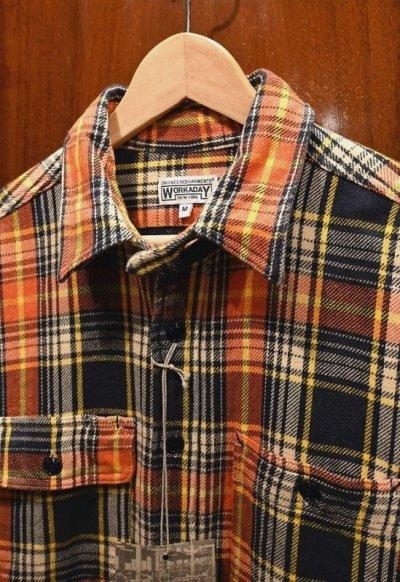 画像2: 未使用品 Engineered Garments WORKADAY(エンジニアードガーメンツ ワーカデイ) コットン ヘビーネルシャツ(M) 新品