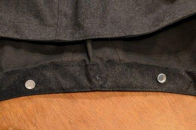 画像2: 新品 Mackintosh マッキントッシュ ウールゴム引き ステンカラーコート フード取り外し可能(Gray/40) 未使用品 定価203500