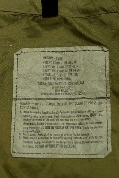 画像3: USED 94年 U.S.ARMY ECWCS GEN1 ゴアテックスパーカー(M-Long) ウッドランドカモ