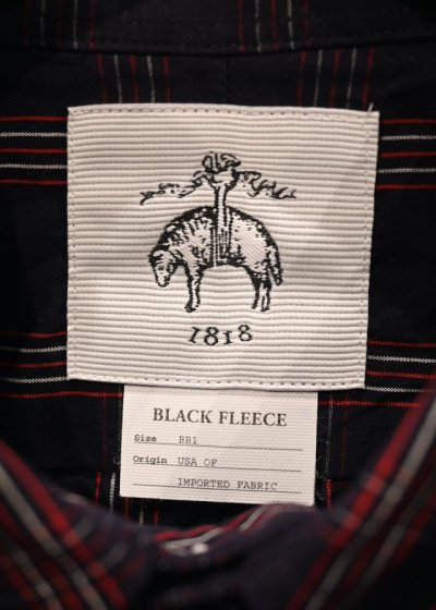 画像2: BROOKS BROTHERS BLACK FLEECE (ブルックスブラザーズ ブラックフリース) シャツ (Navy/BB1) 新品 デッドストック