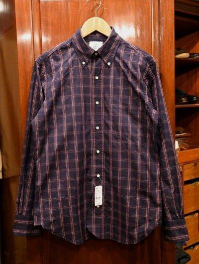 画像1: BROOKS BROTHERS BLACK FLEECE (ブルックスブラザーズ ブラックフリース) シャツ (Navy/BB1) 新品 デッドストック
