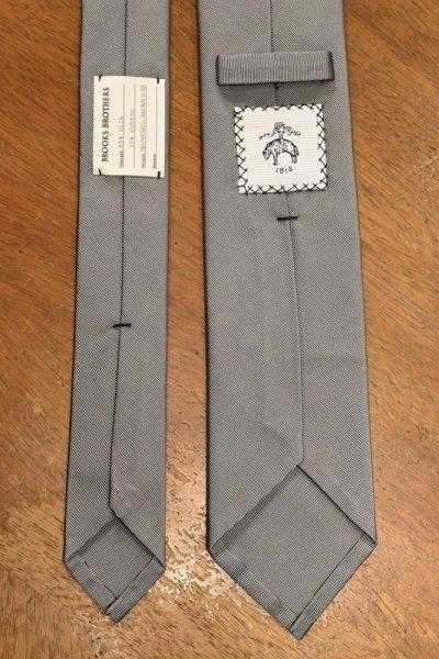 画像3: 【クリックポスト198円も可】BROOKS BROTHERS BLACK FLEECE (ブルックスブラザーズ ブラックフリース) シルク×コットン ネクタイ (SILVER) 新品 デッドストック