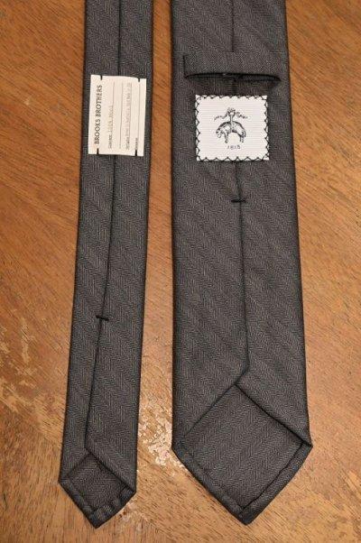 画像3: 【クリックポスト198円も可】BROOKS BROTHERS BLACK FLEECE (ブルックスブラザーズ ブラックフリース) ウール ヘリンボーン ネクタイ (GRAY) 新品 デッドストック