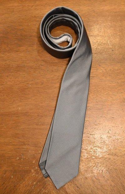 画像1: 【クリックポスト198円も可】BROOKS BROTHERS BLACK FLEECE (ブルックスブラザーズ ブラックフリース) シルク×コットン ネクタイ (SILVER) 新品 デッドストック