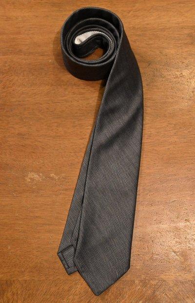 画像1: 【クリックポスト198円も可】BROOKS BROTHERS BLACK FLEECE (ブルックスブラザーズ ブラックフリース) ウール ヘリンボーン ネクタイ (GRAY) 新品 デッドストック
