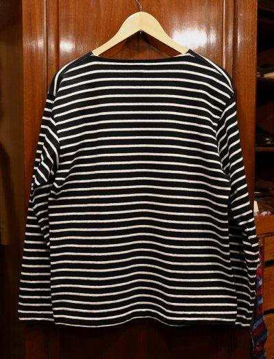 画像3: 【クリックポスト198円も可】USED ANATOMICA アナトミカ ボーダー バスクシャツ(BLACK×WHITE/M) 中古