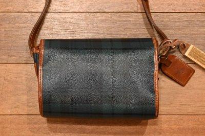 画像3: (HOLD.) USED 90s ポロラルフローレン PVC×レザー ブラックウォッチ柄のショルダーバッグ ポシェット 中古 ビンテージ