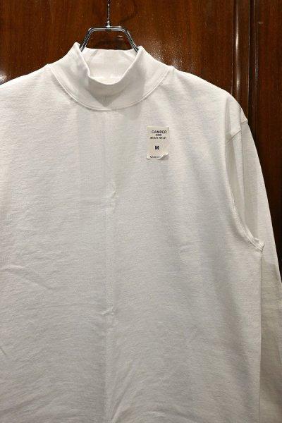 画像2: CAMBER 306 MAX-WEIGHT MOCK NECK キャンバー マックスウェイト モックネックTシャツ (White/M,L,XL) アメリカ製