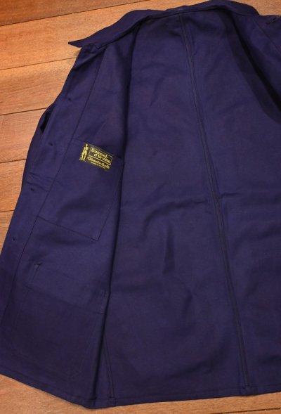 画像3: 50s デッドストック フレンチ ワークジャケット コットンツイル 丸襟 (BLUE/46) Vintage French Work Jacket Deastock Dumont d'Urville B