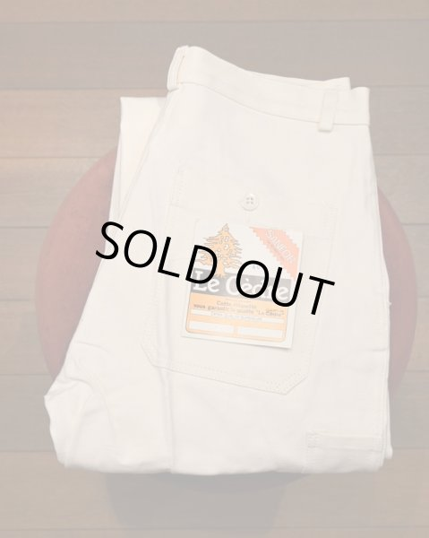 画像1: 60s デッドストック フレンチ コットンツイル ワークパンツ ペインターパンツ (WHITE/40) Vintage French Work Pants Deastock (1)