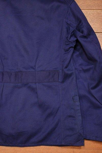 画像3: 40s デッドストック フレンチブルー モールスキン ワークジャケット  テーラード型 Vポケ マルタンガル仕様 希少 (BLUE/ ) Vintage French Work Jacket Deastock