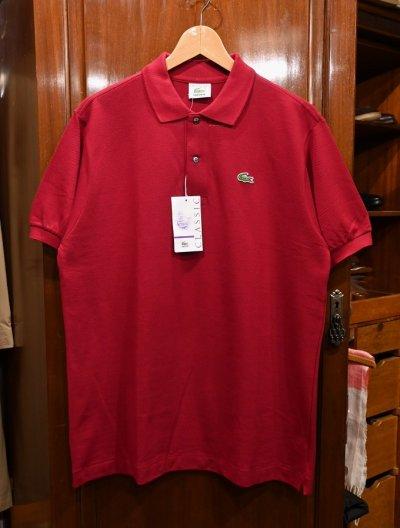 画像1: 【クリックポスト198円も可】90s Deadstock デッドストック フランス製 ラコステ 鹿の子ポロシャツ 半袖(Bordeaux/5) エンジ