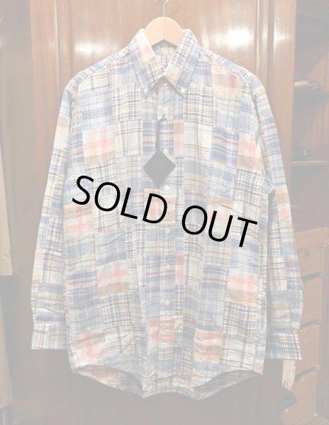 画像1: 〜00S Deadstock BROOKS BROTHERS マドラスパッチワークシャツ  (ブルックスブラザーズ) (Blue/S) 未使用 デッドストック (1)
