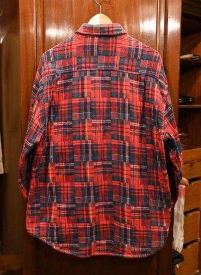画像3: 90s (VTG/USED) GAP パッチワーク柄 ネルシャツ ポルトガル製 (L) 中古