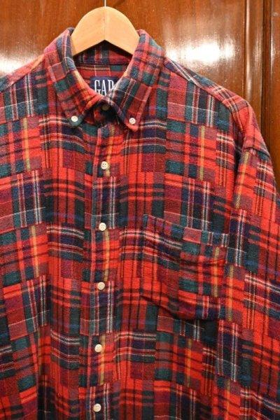画像2: 90s (VTG/USED) GAP パッチワーク柄 ネルシャツ ポルトガル製 (L) 中古