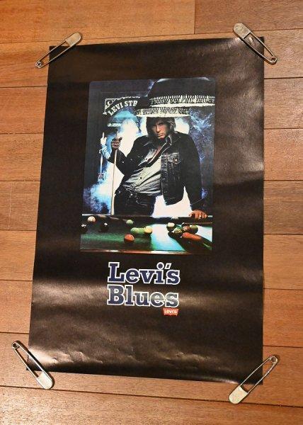 画像1: 80s Levi's リーバイス ポスター (ビリヤード) 730×490mm ビンテージ USED 中古 (1)