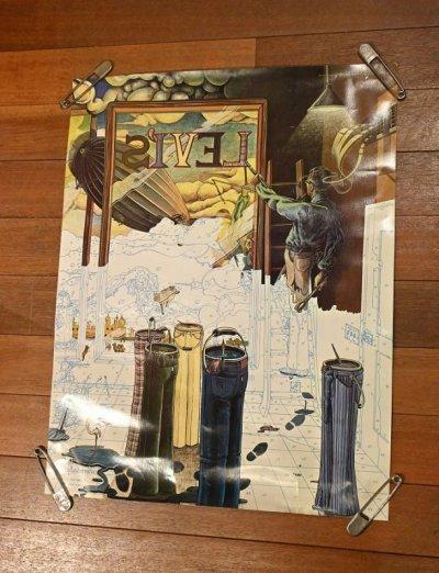 画像1: 70s Levi's リーバイス ポスター (絵描き) 778×604mm ビンテージ USED 中古