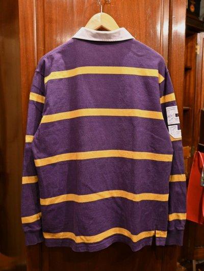 画像3: (VTG/USED) '92 Polo Ralphlauren ポロラルフローレン ラグビーシャツ【Purple/M】ラグビージャージ 中古