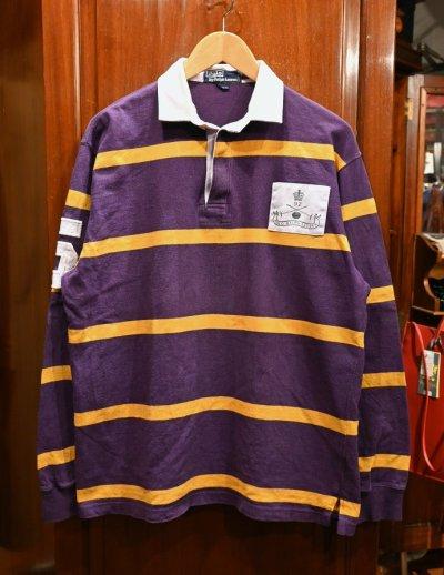 画像1: (VTG/USED) '92 Polo Ralphlauren ポロラルフローレン ラグビーシャツ【Purple/M】ラグビージャージ 中古