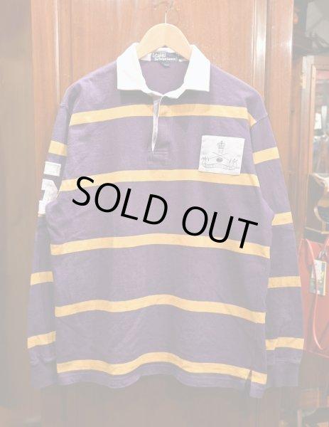 画像1: (VTG/USED) '92 Polo Ralphlauren ポロラルフローレン ラグビーシャツ【Purple/M】ラグビージャージ 中古 (1)