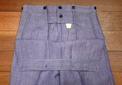 画像2: 1960年 デッドストック フランス海軍 ラミーセーラーパンツ (BLUE/W84cm) Deadstock French Navy Sailor Pants A
