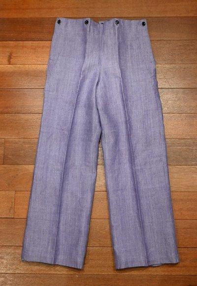 画像1: 1960年 デッドストック フランス海軍 ラミーセーラーパンツ (BLUE/W84cm) Deadstock French Navy Sailor Pants A