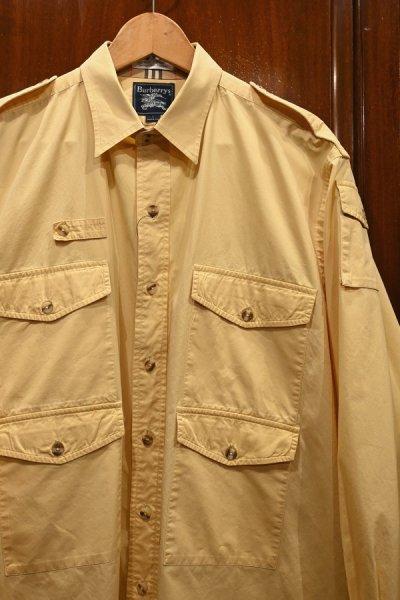 画像2: (VTG/USED) BURBERRYS バーバリー ハンティングシャツジャケット アメリカ製(L) 美中古