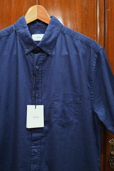 画像2: 【クリックポスト198円も可】新品 Onia(オニア) リネン+コットン 半袖 B.Dシャツ(Navy/M) 定価$120 並行輸入