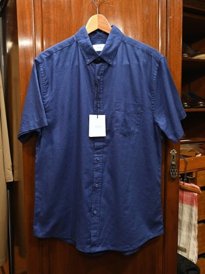 画像1: 【クリックポスト198円も可】新品 Onia(オニア) リネン+コットン 半袖 B.Dシャツ(Navy/M) 定価$120 並行輸入