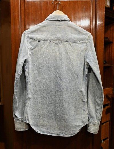 画像3: (USED) RRL ラルフローレン デニム ウェスタンシャツ コンチョボタン【XS】中古