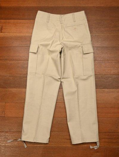 画像3: 90s デッドストック ドイツ軍 ホワイトモールスキン カーゴパンツ Deadstock German Military Moleskin Cargo Pants (BEIGE/SIZE :1)