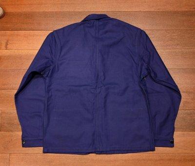 画像3: 50s デッドストック フレンチ ワークジャケット コットンツイル (INK BLUE) Vintage French Work Jacket Deastock E