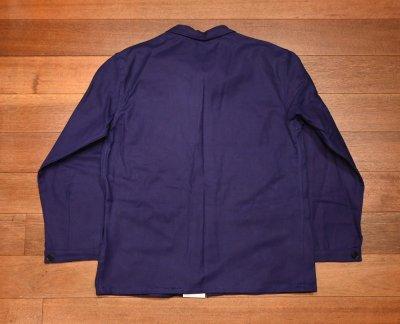 画像3: 50s デッドストック フレンチ ワークジャケット コットンツイル (INK BLUE/46) Vintage French Work Jacket Deastock G