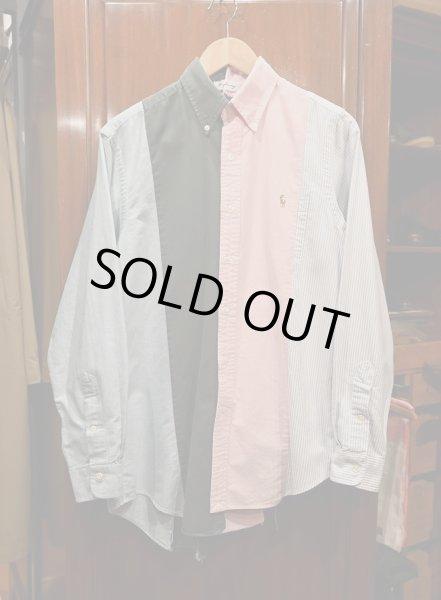 画像1: クリックポスト198円も可 (USED) KNIFE WING 4 Columms Shirts ポロラルフローレン リメイクシャツ(M) 中古 (1)